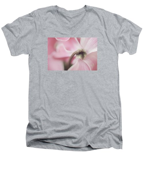 Sensuous Cyclamen Men's V-Neck T-Shirt by Mary Angelini