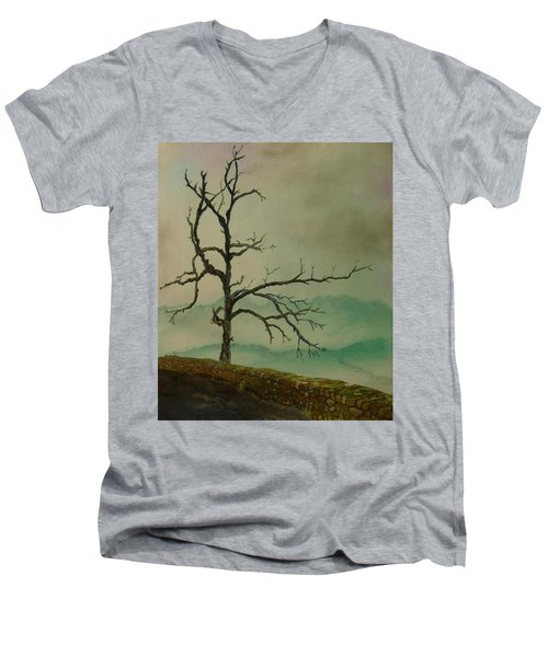 Sentinel Of The Shenandoah  Men's V-Neck T-Shirt