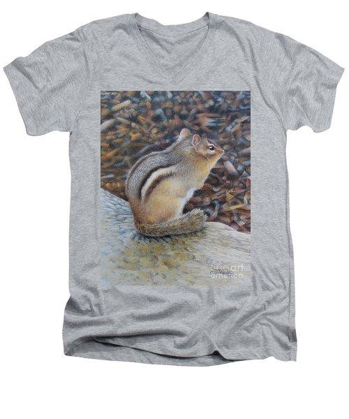 Sentinel Men's V-Neck T-Shirt by Pamela Clements