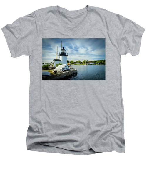 Sentinels Of The Sea Lighthouse Men's V-Neck T-Shirt