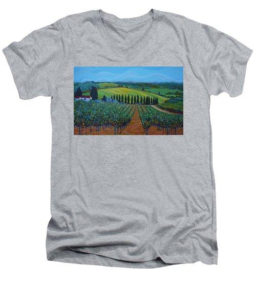Sentrees Of The Grapes Men's V-Neck T-Shirt