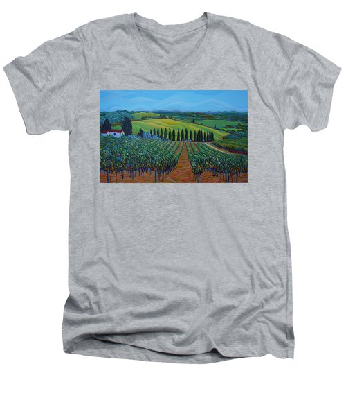 Sentrees Of The Grapes Men's V-Neck T-Shirt