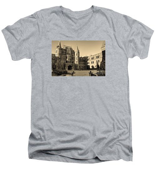 Men's V-Neck T-Shirt featuring the photograph Sepia High by Chris Anderson
