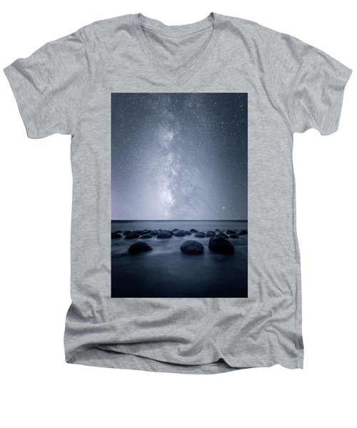 Men's V-Neck T-Shirt featuring the photograph Septarian Concretions by Dustin LeFevre