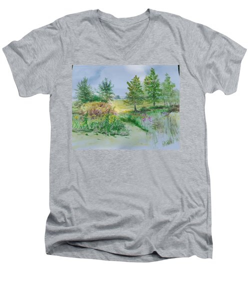 September At Kickapoo Creek Park Men's V-Neck T-Shirt