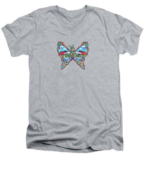 September Butterfly Men's V-Neck T-Shirt