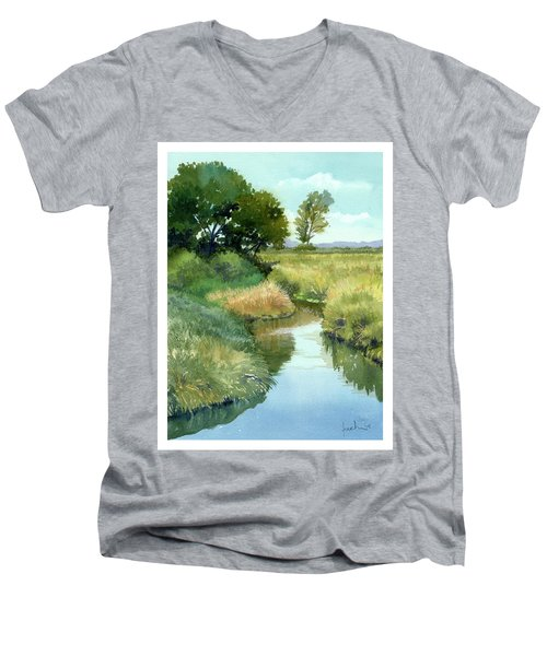 September Morning, Allen Creek Men's V-Neck T-Shirt