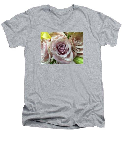 September Rose Men's V-Neck T-Shirt by Russell Keating