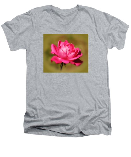 September Rose Up Close Men's V-Neck T-Shirt