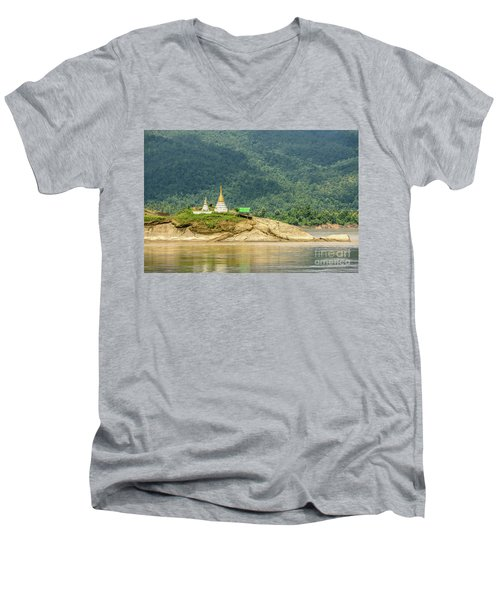 Men's V-Neck T-Shirt featuring the photograph September by Werner Padarin