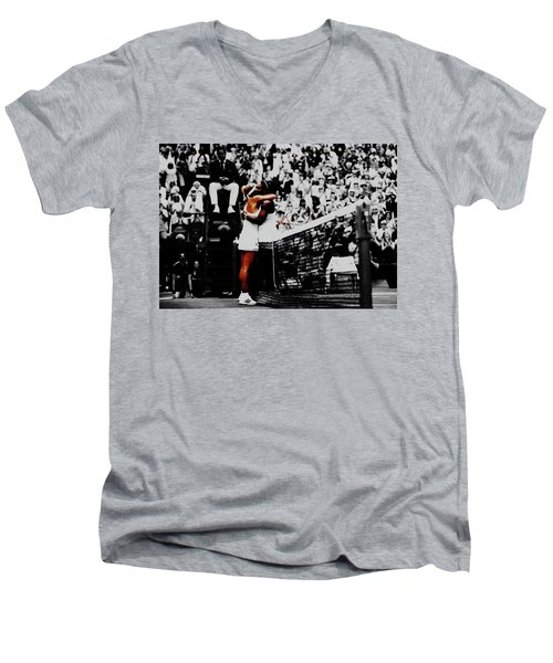 Serena Williams And Angelique Kerber Men's V-Neck T-Shirt by Brian Reaves