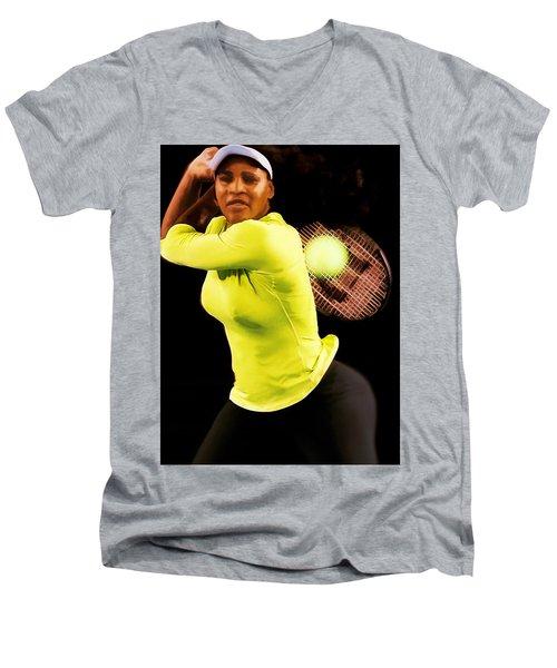 Serena Williams Bamm Men's V-Neck T-Shirt by Brian Reaves