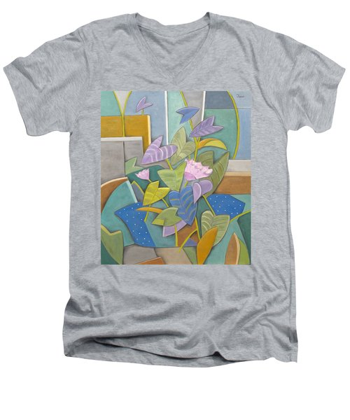 Serendipity Men's V-Neck T-Shirt by Trish Toro