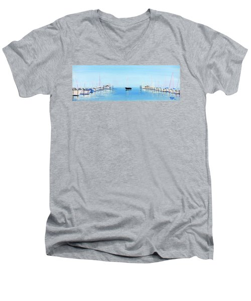 Serene Atlantic Highlands Marina Men's V-Neck T-Shirt