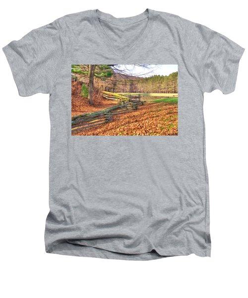 Serene Lake Men's V-Neck T-Shirt