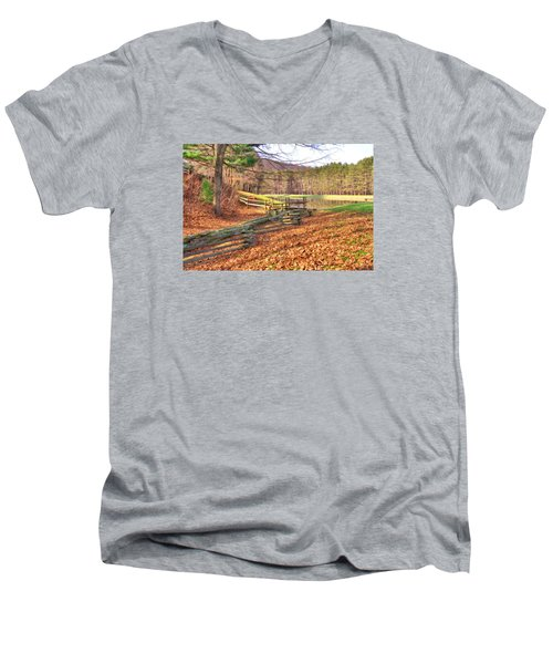 Serene Lake Men's V-Neck T-Shirt
