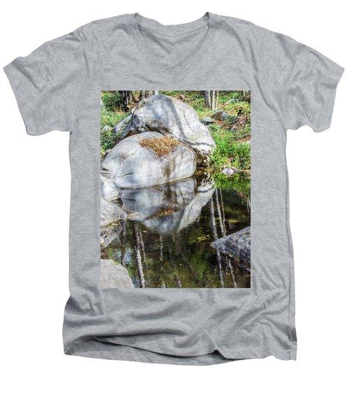 Serene Reflections Men's V-Neck T-Shirt by Ed Clark