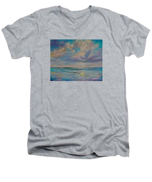 Serene Sea Men's V-Neck T-Shirt by AnnaJo Vahle