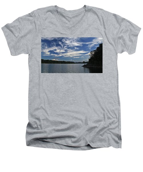 Men's V-Neck T-Shirt featuring the photograph Serene Skies by Gary Kaylor