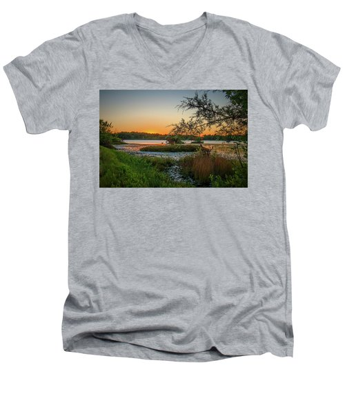 Serene Sunset Men's V-Neck T-Shirt