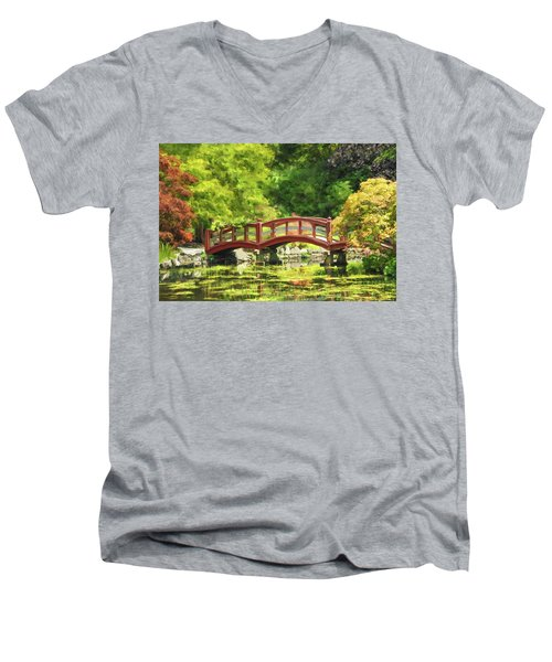 Serenity Bridge II Men's V-Neck T-Shirt