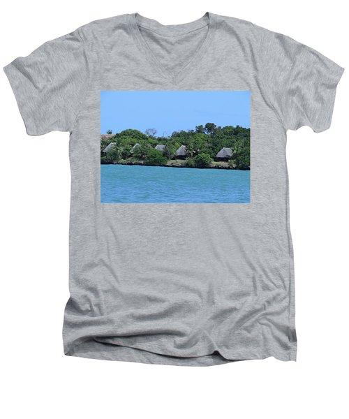 Serenity - Chale Island Kenya Africa Men's V-Neck T-Shirt
