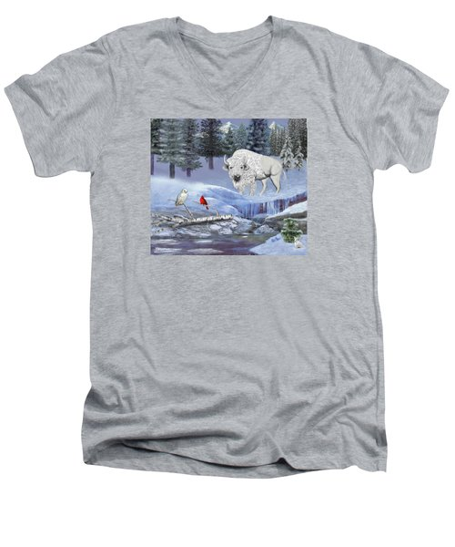 Serenity Men's V-Neck T-Shirt by Glenn Holbrook