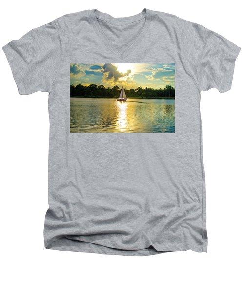 Serenity  Men's V-Neck T-Shirt by Mary Ward