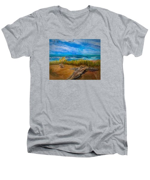 Serenity On A Florida Beach Men's V-Neck T-Shirt