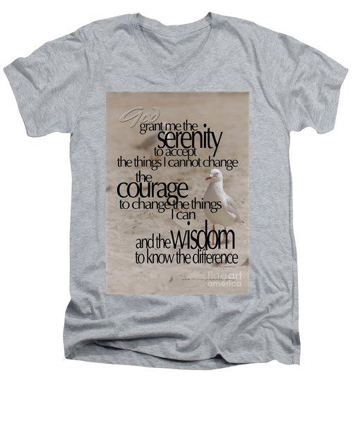 Serenity Prayer 01 Men's V-Neck T-Shirt