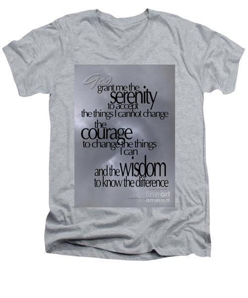 Serenity Prayer 05 Men's V-Neck T-Shirt