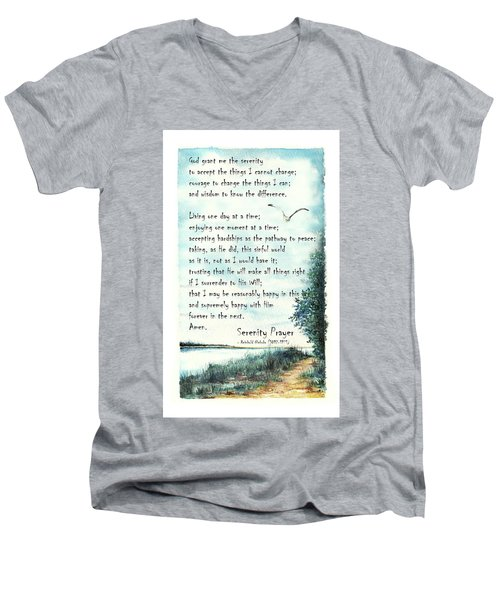 Serenity Prayer The Full Version Men's V-Neck T-Shirt