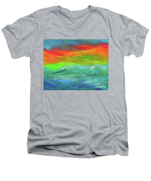 Serenity Sunrise  Men's V-Neck T-Shirt