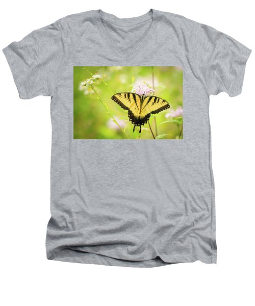 Series Of Yellow Swallowtail #6 Of 6 Men's V-Neck T-Shirt