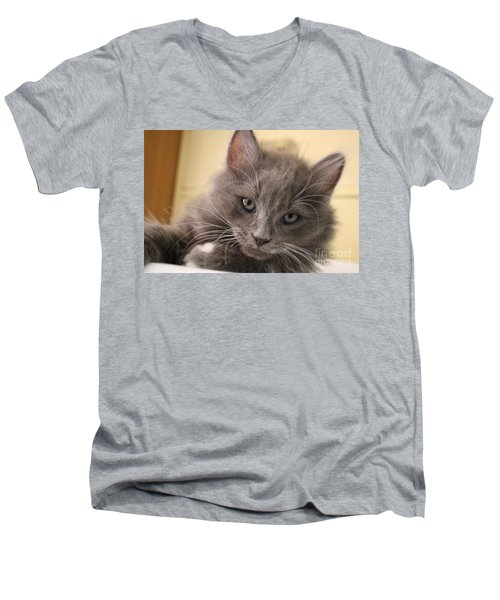Seriously Bro Just Stop With The Photos  Men's V-Neck T-Shirt by Scott D Van Osdol