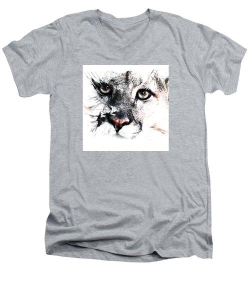 Seriously Cougar Men's V-Neck T-Shirt