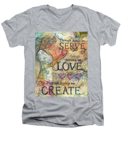 Serve Love Create Men's V-Neck T-Shirt