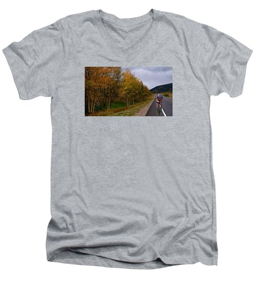 Men's V-Neck T-Shirt featuring the photograph Set Your Own Pace by Laura Ragland