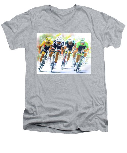 Setting The Pace Men's V-Neck T-Shirt