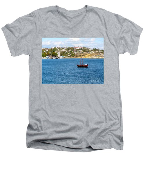 Sevastapol. Ukraine Men's V-Neck T-Shirt by Phyllis Kaltenbach