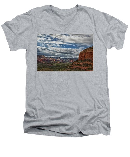 Seven Canyons Men's V-Neck T-Shirt by Tom Kelly