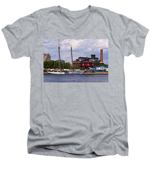 Seven Foot Knoll Lighthouse - Baltimore Men's V-Neck T-Shirt