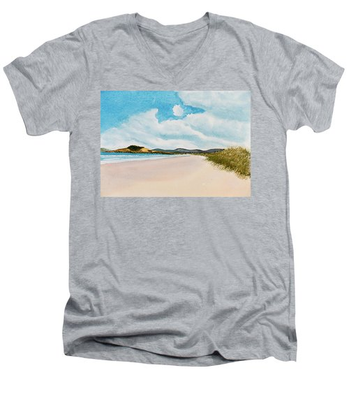Seven Mile Beach On A Calm, Sunny Day Men's V-Neck T-Shirt