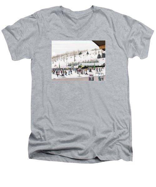 Seven Springs Stowe Slope Men's V-Neck T-Shirt