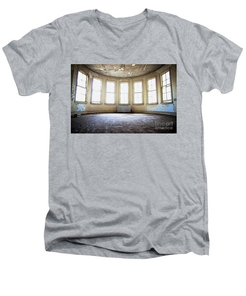 Men's V-Neck T-Shirt featuring the photograph Seven Windows by Randall Cogle