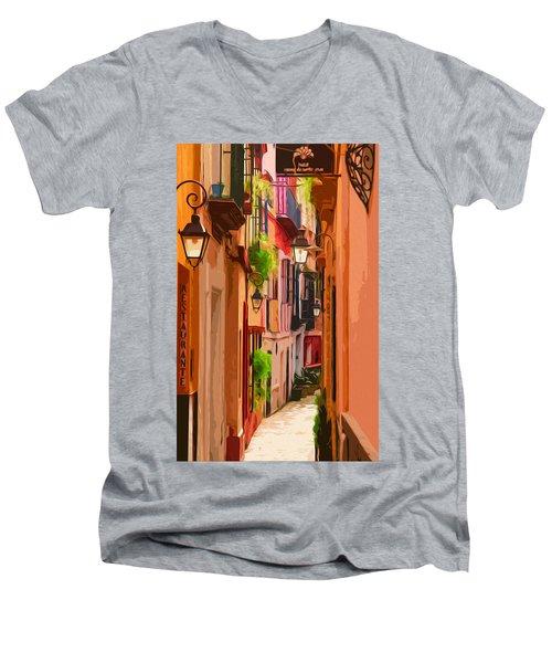 Seville, Colorful Spain Men's V-Neck T-Shirt