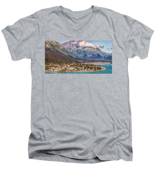 Men's V-Neck T-Shirt featuring the photograph Seward Alaska by Michael Rogers