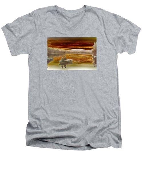 Seyon Sunset Men's V-Neck T-Shirt by Paul Miller