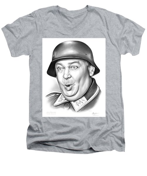 Sgt Schultz Men's V-Neck T-Shirt by Greg Joens