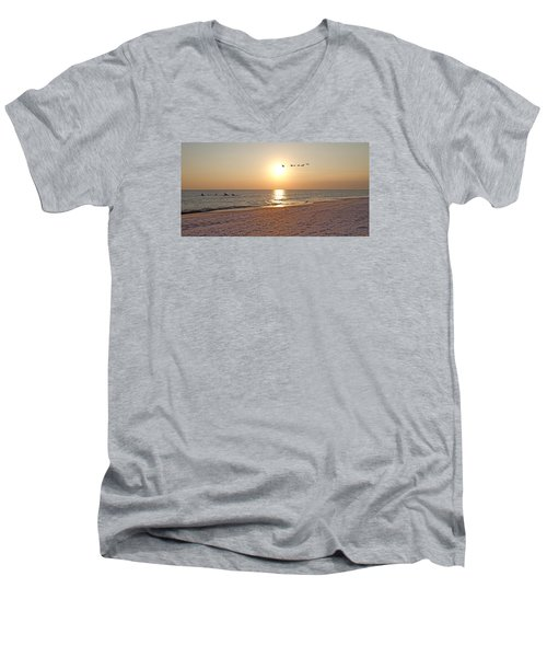 Shackleford Banks Sunset Men's V-Neck T-Shirt